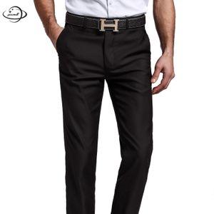 YAUAMDB men suit pants 2018 spring autumn size 28-40 male trousers pocket clothing business soild formal man black clothes ly51