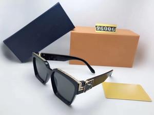 Luxe MILLIONNAIRES Black sunglasses Brand New plein cadre lunettes de soleil vintage pour hommes femmes Millionnaires or brillant