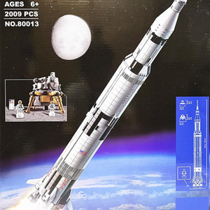 K80013 Apollo Saturn 5 launch vehicle assembly building block puzzle toy