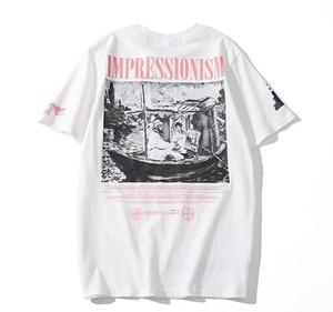 CDG PLAY commes Mensentwerfer T-Shirts OFF mit Herz-Sport-T-Shirts des garcons Weiß Pablo Streifen Shirts für den Sommer vetements A5