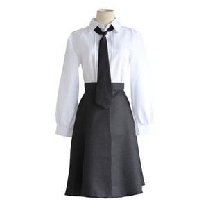 Bungo Stray Dogs Detective Agency Member Akiko Yosano Cosplay Costumes Skirt Tie Gloves School Uniform Suit