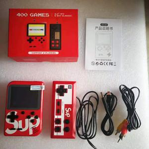 SUP 400 en una caja del juego Soporte 2 jugadores Juego electrónico de bolsillo consolas con 3.0 pulgadas de pantalla de salida AV Nostálgico jugador del juego