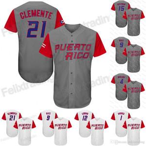 21 Roberto Clemente 2017 WBC Porto Rico # 12 Franciscolindor 1 Carlos Correa 9 Javier Baez N ° 4 Yadier Molina Carlos Beltran Baseball Jersey