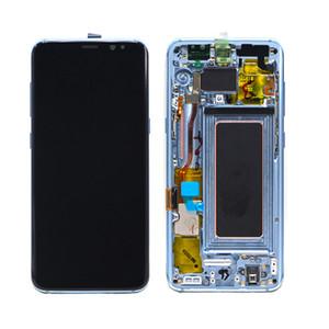 프레임으로 삼성 갤럭시 S8 S8 플러스 원래 OEM LCD 디스플레이 + 터치 스크린 교체 유리