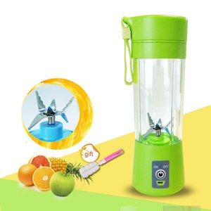 400ml Portable Juice Blender Usb Juicer Cup Multi-function Fruit Mixer Six Blade Mixing Machine Smoothies Baby Food Dropshipping C19031101