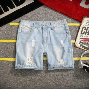 jeans shorts men 2020 summer new plus size 5xl men's hole scraping loose jeans shorts men