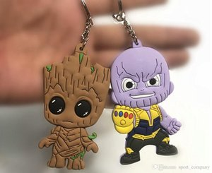 Avengers3 Infinity War Thanos Black Panther Groot PVC Action Figures Toys Doll Keychain Kids Chritmas Gift