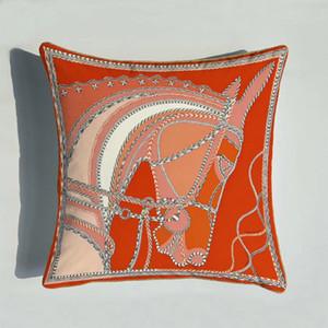 Clássico Laranja Sofá Almofada Caso Europeia cópia vermelha Laranja Pillowcase Luxo Big padrão da cópia Capa de Almofada