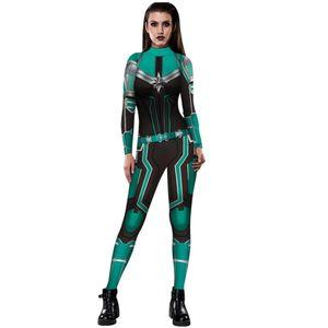 PLstar Cosmos 3D Print Beauty poster Spandex Lycra Costume for Halloween Cosplay marvel Captain Marvel Suit Avengers: Endgame-12