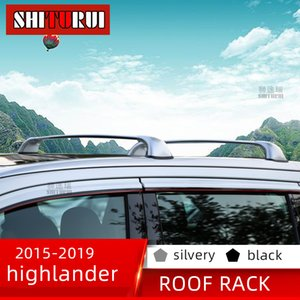 SHITURUI 2шт крыша бары для TOYOTA KLUGER highlander 2015-2020 алюминиевый сплав боковые бары поперечные рельсы багажник на крыше багажник