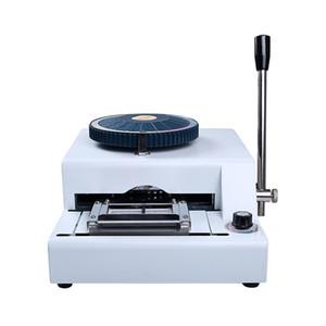 Convexa codificador máquina de sellado de tarjeta bancaria tarjeta de miembro del codificador VIP máquina de escribir máquina de estampación de PVC para el tamaño de 54mm * 85.5mm