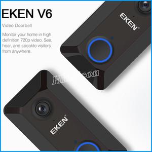 أحدث EKEN V6 اللاسلكية الذكية 720P واي فاي كاميرا فيديو الجرس جرس الباب سحابة التخزين جرس كام منزل أمن الوطن مع مربع للبيع بالتجزئة رخيصة