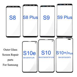 2pcs / lot Frente Outer Tela lente de vidro Substituição para Samsung Galaxy S10 Além disso S10E S9 S8 Plus Nota 8 LCD 9 tela de vidro