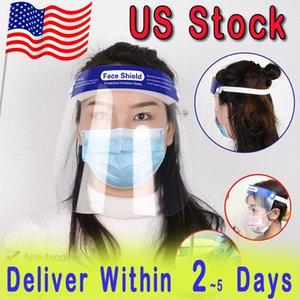 Защитные Face Shield Clear Mask Anti-Fog анфас маски изоляции Прозрачный Козырек Предотвращение брызгать DROPLETS безопасности ПЭТ