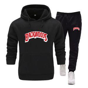 Neue Marke Backwoods Bekleidung Herren Pullover Pullover Cotton Männer Tracksuits Hoodie Zwei Stücke + Hosen-Sport-Shirts Herbst Winter Trainingsanzug