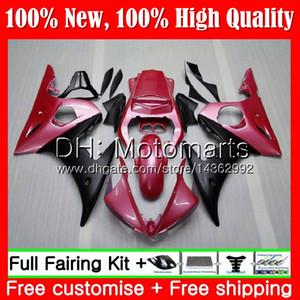 Carrosserie Pour YAMAHA YZF R6 S 06 YZF600 YZFR6S 06 07 08 09 Rose Noir 102MT7 YZF-600 YZF R6S YZF-R6S 2006 2007 2008 2009 Kit de carrosserie de carénage