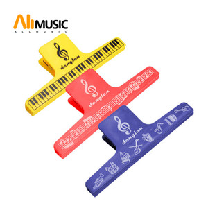 Free Shipping Senior Music Scores Clip Sheet Music Clip 10pcs lot Assorted Colour random color