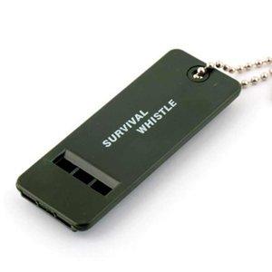 Plastic Outdoor Survival Whistle 3 Frequência sons altos Treinador Whistle Outdoor Survival Whistle viagem de emergência Whistles ZZA1834