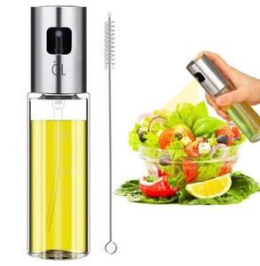 Botellas de aerosol de acero inoxidable Recargables Vinagre de aceite de oliva Niebla Botella de pulverización Parrilla BBQ Aceite pulverizador Dispensador de aceite para cocinar