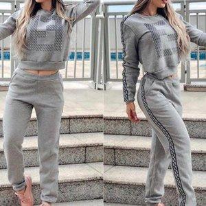 Mulheres Designer Fatos New capuz Suit duas peças exterior equipamentos Activo Desportos Ócio e Terno Confortável 2020 Atacado