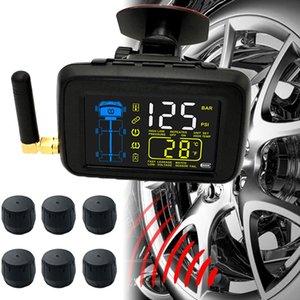 TPMS coche universal inalámbrico Neumático de Control de Presión neumáticos de las ruedas 6 Sistema de sensor externo reemplazable Enhanced Battery Señal