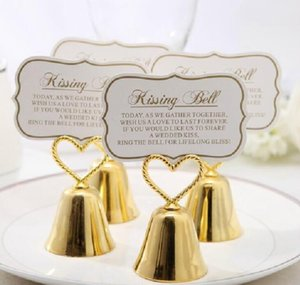 Creative Kissing Bell Heart Bells Clips, Message Clips, Note Clips for Party Wedding Table Decoration Favors