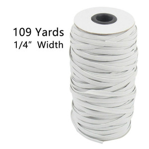 Fast Delivery 109 Yards Length DIY Braided Elastic Band Cord Knit Band Sewing 6mm Widely