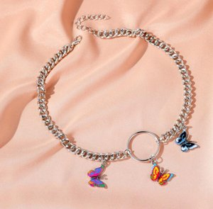 DHL Punk Style Butterfly Choker Necklace Jewelry Women Collares Gothic Hip Hop Gift Necklace Collares Mujer jewelry