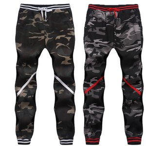 Frayed Jeans Haren Pants Male Autumn Winter XXL Camouflage Trousers Stripe Wash Cotton Long Pants M-4XL