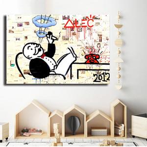 Alec Monopoly Dessins Animés Peintures Sur Toile Art Moderne Mur Décoratif Photos Home Decoration