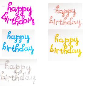 18 pouces joyeux anniversaire Lettre Ballons En Aluminium Pour 1er 20 30 40 50 60ème Fête D'anniversaire Décoration Ballon
