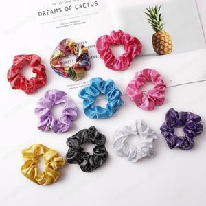 Holder Corea Capelli Scrunchie elastico HairBands colore dell'arcobaleno Donne Anelli capelli delle ragazze Headwear Coda di cavallo accessori per capelli