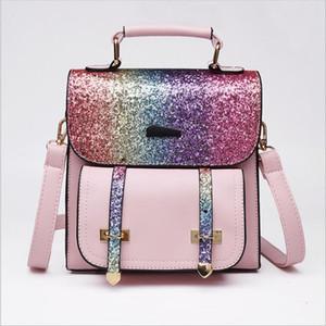 스팽글 배낭 여행 패션 숄더 가방 반짝이 디자이너 학교 가방 블링 스토리지 가방 야외 지갑 totes 학생들의 rucksack c6208