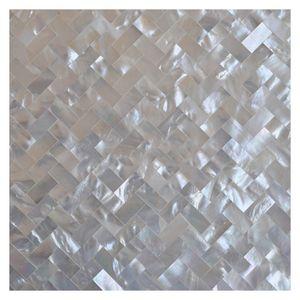 Бесшовный Super White Shell Мозаика Плитка Oyster перламутр кухня Назад Всплеск плитки стены фон мозаика плитка
