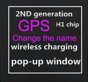 Новый 2020 GPS Rename ТЧД2 Bluetooth гарнитуры H1 чип беспроводного зарядного футляра Optical In-Ear Обнаружение Бобы наушников PK AIR2 i200 i1000 i500tws