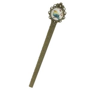 Favorisce il regalo del partito del fiore dell'uccello dell'annata Bookmark righello cancelleria di nozze