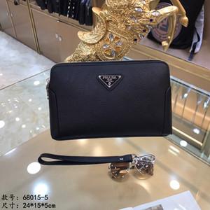 Borsa Designer 2019 stile maturo e stabile pochette nera dimensioni borsa degli uomini di moda Multi-port cerniera progettazione dello spazio di grandi dimensioni 24 * 15 * 5cm