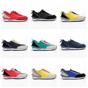 NIKE 2019 Yeni Tasarımcı UNDERCOVER x Waffle Racer Spor Koşu Ayakkabıları Yüksek kaliteli Erkek Eğitmenler için Siyah Sarı Mavi Rahat Sneakers 40-45