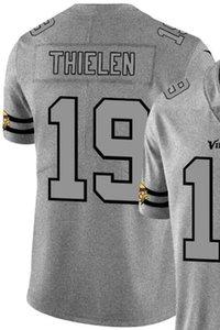 2020 Mann Minnesota 19 Jersey-Shirt bestickt und 100% genäht Hanf Ash Throwback Limited Jersey des amerikanischen Fußballs Jersey-