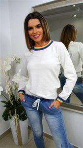 Brand New Женщины Футболки Женщины Boho с длинным рукавом Лоскутная Багги Топы Дамы Повседневная футболка Сыпучие Осень Повседневная мода Hot 2019