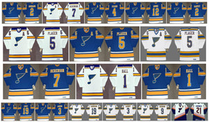 Vintage St. Louis Blues Jerseys Bob Plager Terry Crisp AL ARBOR Derek Sanderson Bob Gassoff Red Berenson Guy Carbonneau CCM Hockey Retro