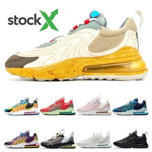 nike air max 270 react erkek eğitici için eng koşu ayakkabıları tepki KAKTÜS TRAILS Lazer Mavi KARPUZ VIBES Barely Gül moda spor spor ayakkabıları womens
