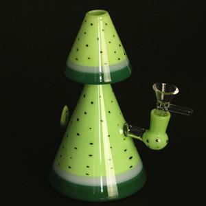 Forma di albero 8 pollici in vetro Bong tubo di acqua del tabacco tamponare rig olio Pipe Con ciotola di vetro al quarzo Banger
