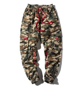 Looes Designer calças dos homens de Hiphop Camuflagem Moda Lápis Calças Casual cordão Adolescente Sweatpants Plus Size Masculino Vestuário