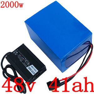 48V 1000W 1500W 2000W Batterie 48V 40AH 48V 40Ah Lithium-Batterie Elektro-Fahrrad-Batteriepack mit BMS und 54.6V 5A 50A Ladegerät
