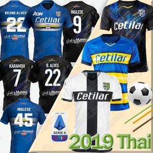 19 20 بارما كرة القدم جيرسي ثلث الأسود INGLESE 2019 2020 Insigne دي جاوديو برونو الفيس Calaio بارما بالقميص لكرة القدم