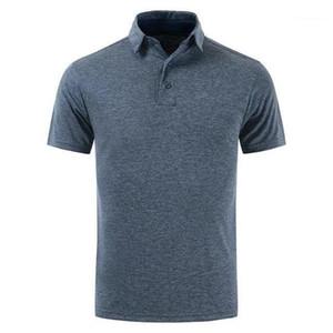 المصمم بولوس غولف الرجال الصلبة قمم الملابس الذكورية Mens Lapel الرقبة قصيرة الأكمام Tshurs Slim Sports Mens