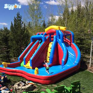 ساحة En14960 مصدق الأطفال والكبار الصيف التجارية العملاقة نسف لعبة تسلية نفخ المياه الشرائح بركة مع منفاخ الهواء