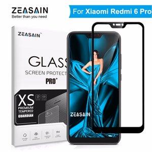 Verre trempé de couverture complète d'origine ZEASAIN pour Xiaomi Redmi 6 Pro Film de protection d'écran Xiomi Redmi 6Pro en verre trempé