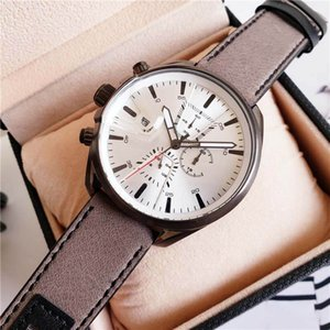 All Subdials Work leisure Mens Watches Stainless Steel Wristwatches Stopwatch relogies for men